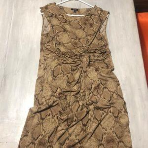 Apt 9 snakeskin print dress